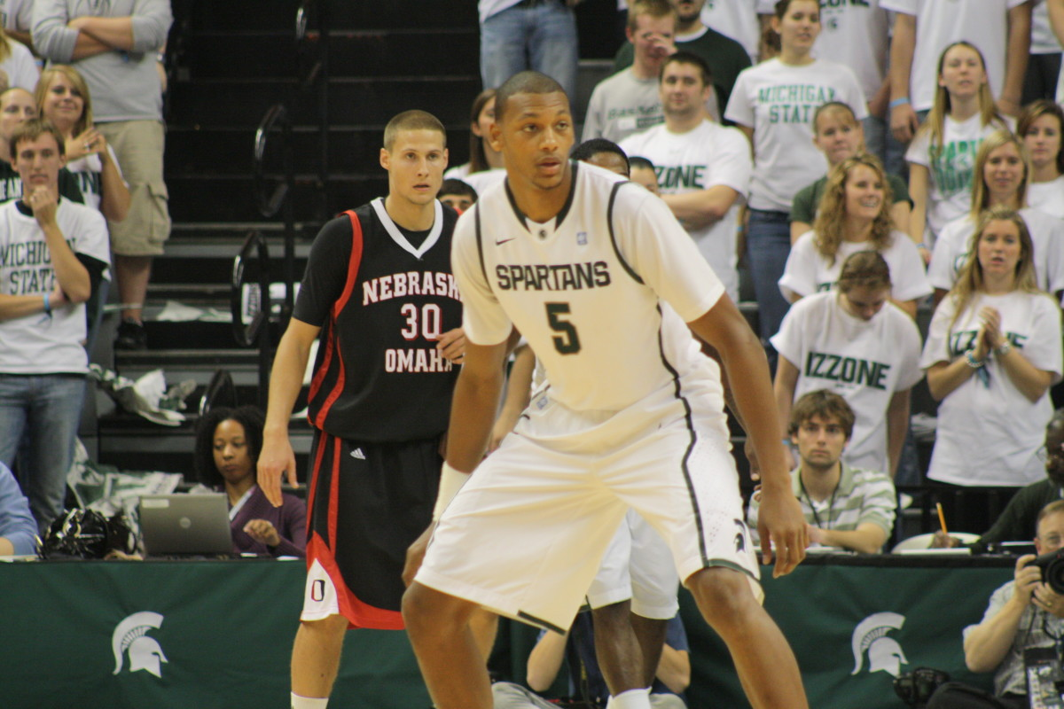 Payne has been a bright spot for the Spartans and has the intangibles of what Izzo craves.  Photo courtesy of Mark Boomgaard.