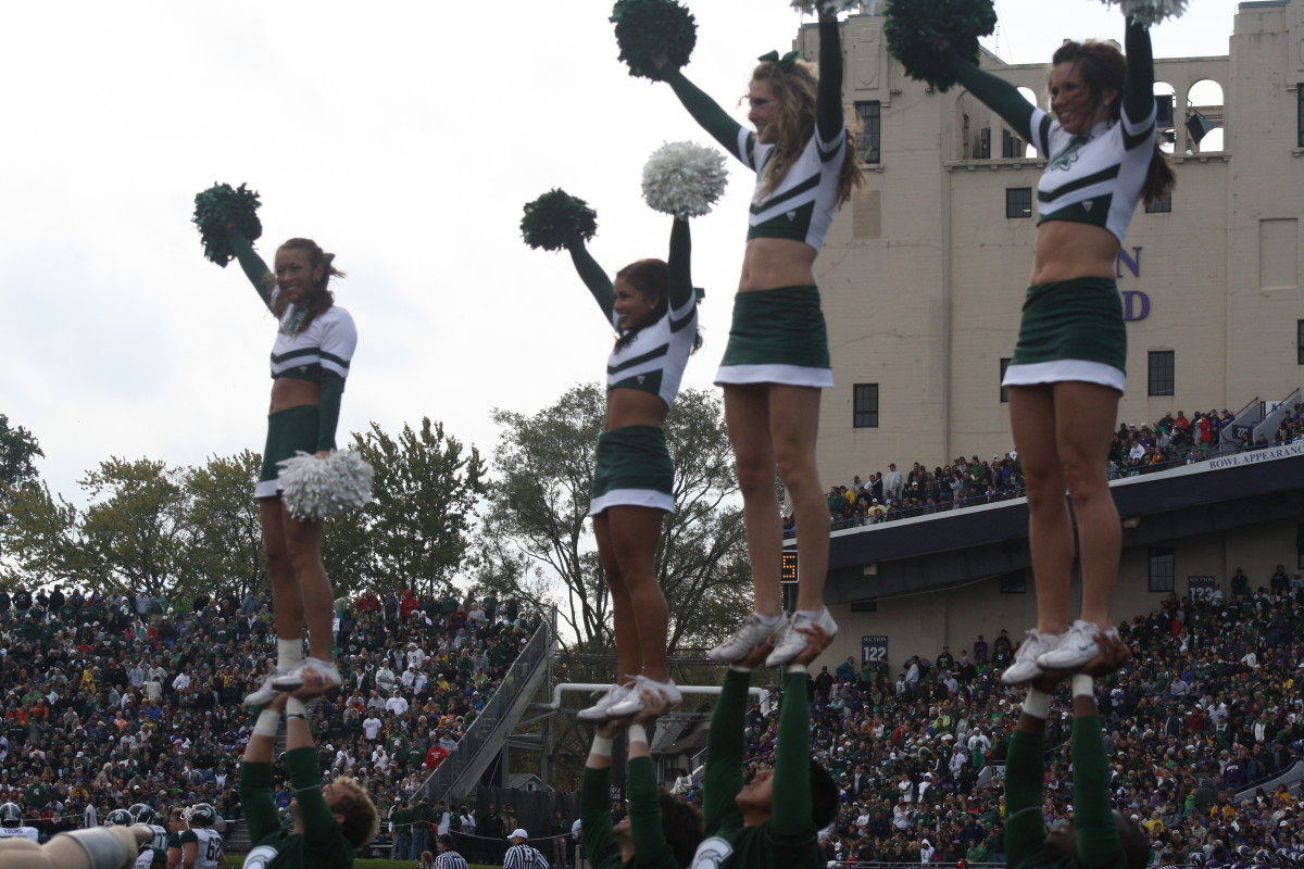 The Spartans look forward to giving the Spartan Nation something to stand and cheer this week.  Photo courtesy of Mark Boomgaard.