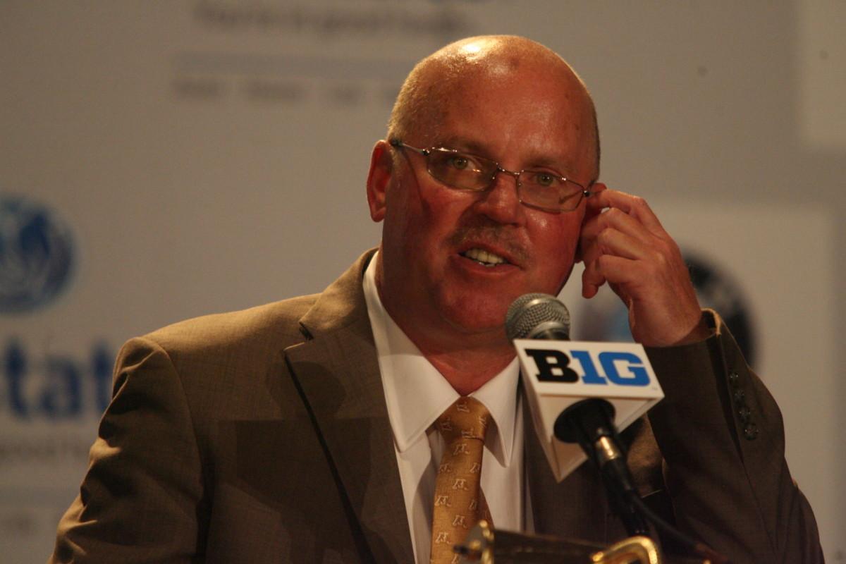 Minnesota head coach Jerry Kill at the Big Ten media days.  Photo courtesy of Bill Marklevits.
