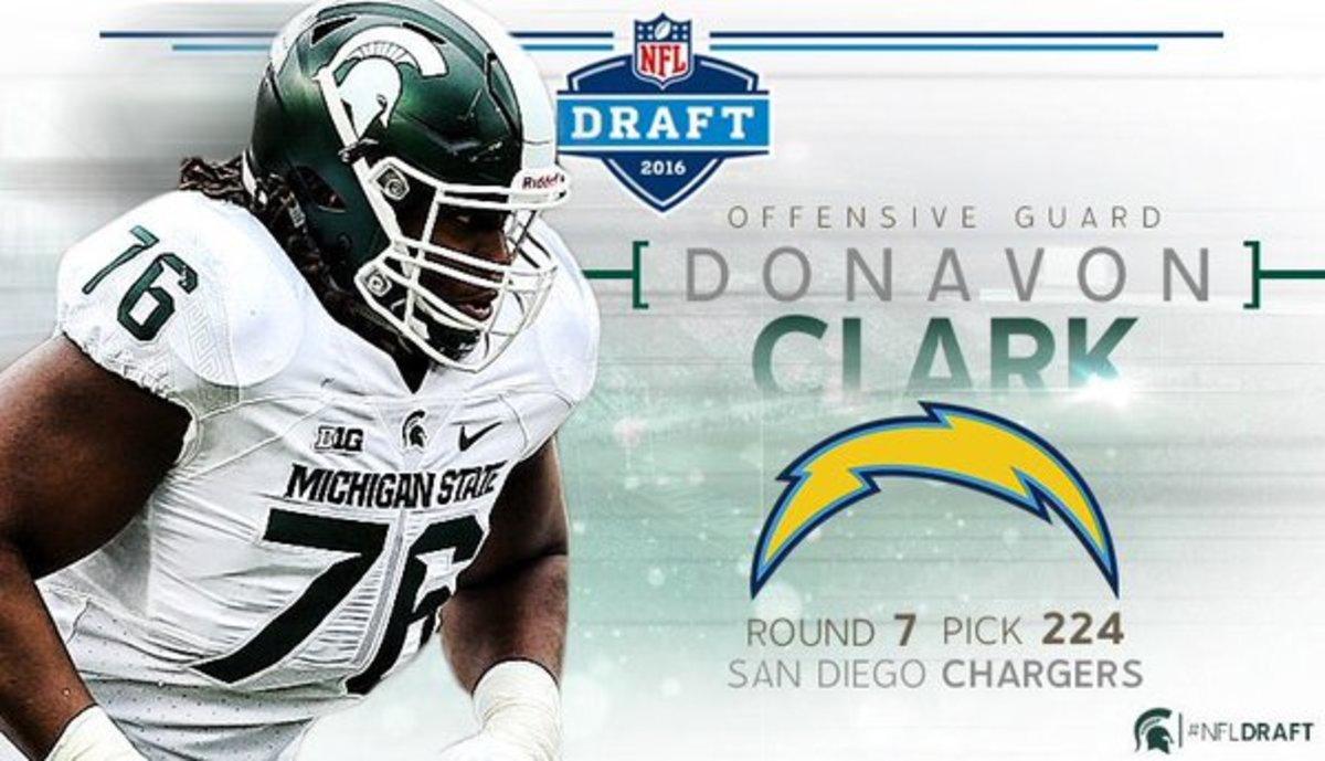 Donavon Clark 2016 NFL draft.  Photo courtesy of MSU SID