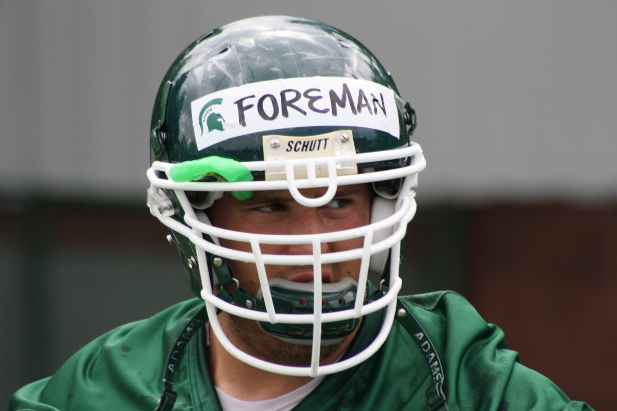 Joel Foreman has been a star on and off the field since he arrived at MSU.  Photo courtesy of Mark Boomgaard.
