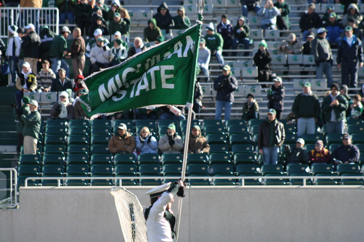 The Spartan Nation is flying high as they enjoy the bye week.  Photo courtesy of Mark Boomgaard.
