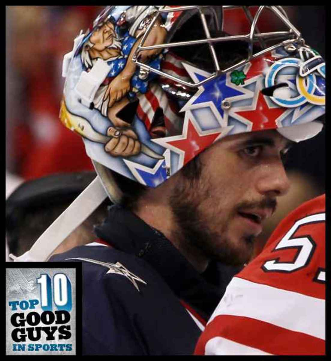Big props to Ryan Miller:  one of sports top ten good people.  Photo courtesy of www.Deadspin.com