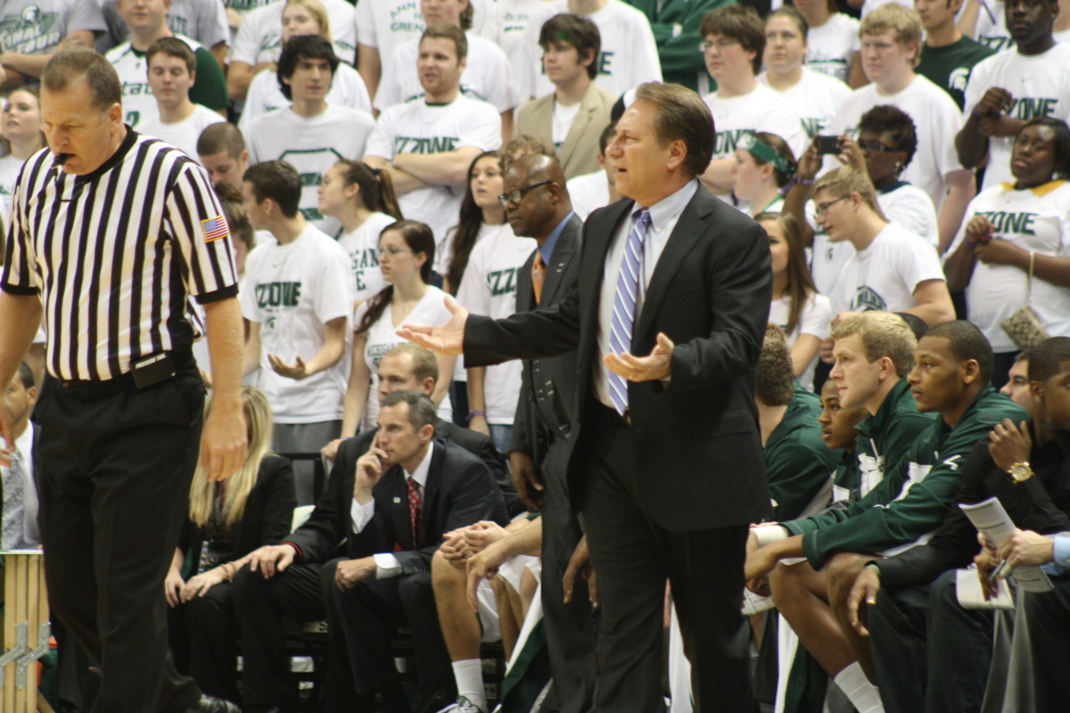 Tom Izzo can't do it all.  This team needs a leader to emerge.  Photo courtesy of Mark Boomgaard.