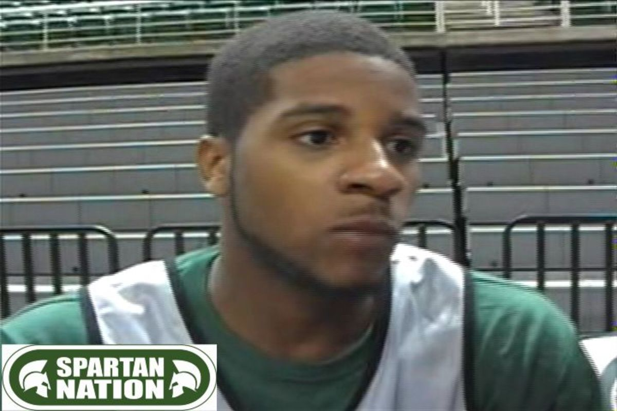 Korie Lucious talks about having to sit out two games for off court issues.