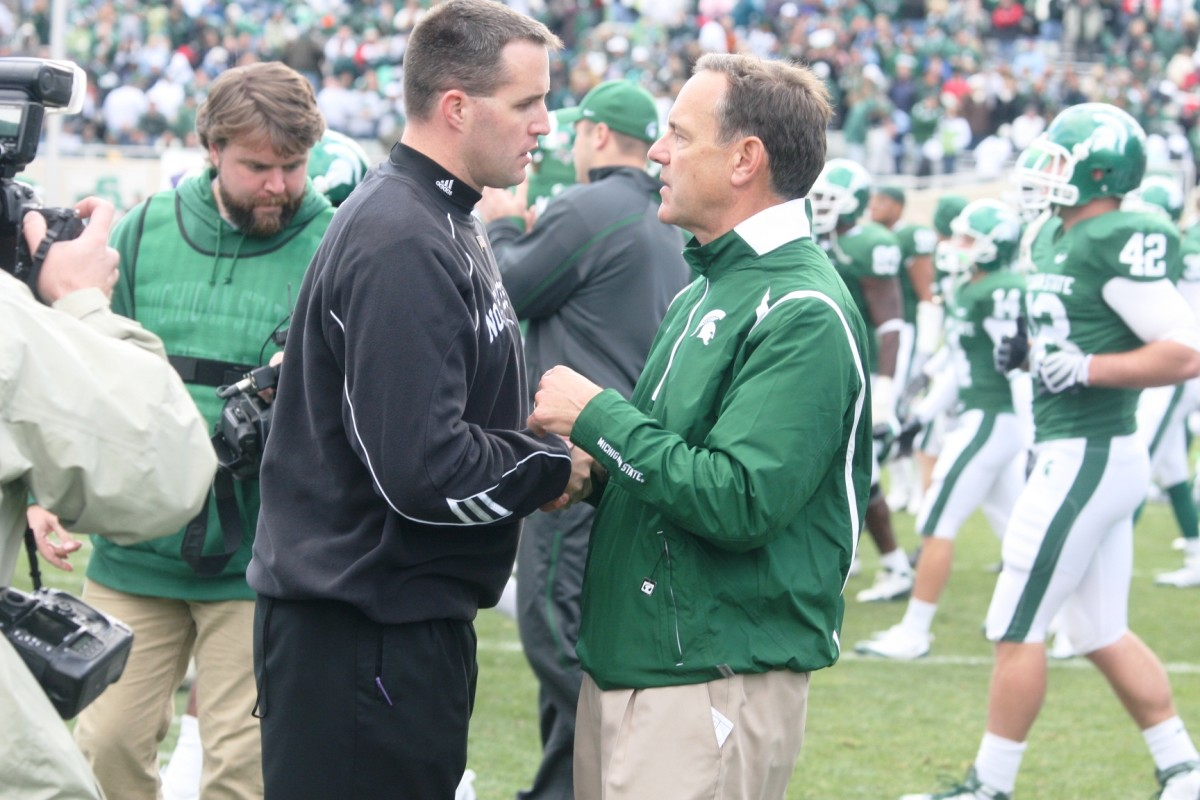 Coach Fitzgerald has earned the respect of Mark Dantonio and the rest of the nation.  Photo courtesy of Mark Boomgaard.
