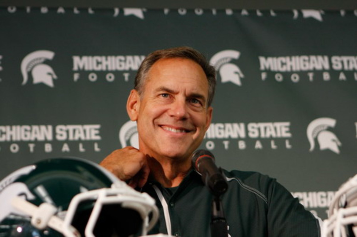 Mark Dantonio's 2010 Spartans have him feeling optimistic as he looks for his first Big Ten Championship.  Photo courtesy of Starr Portice.