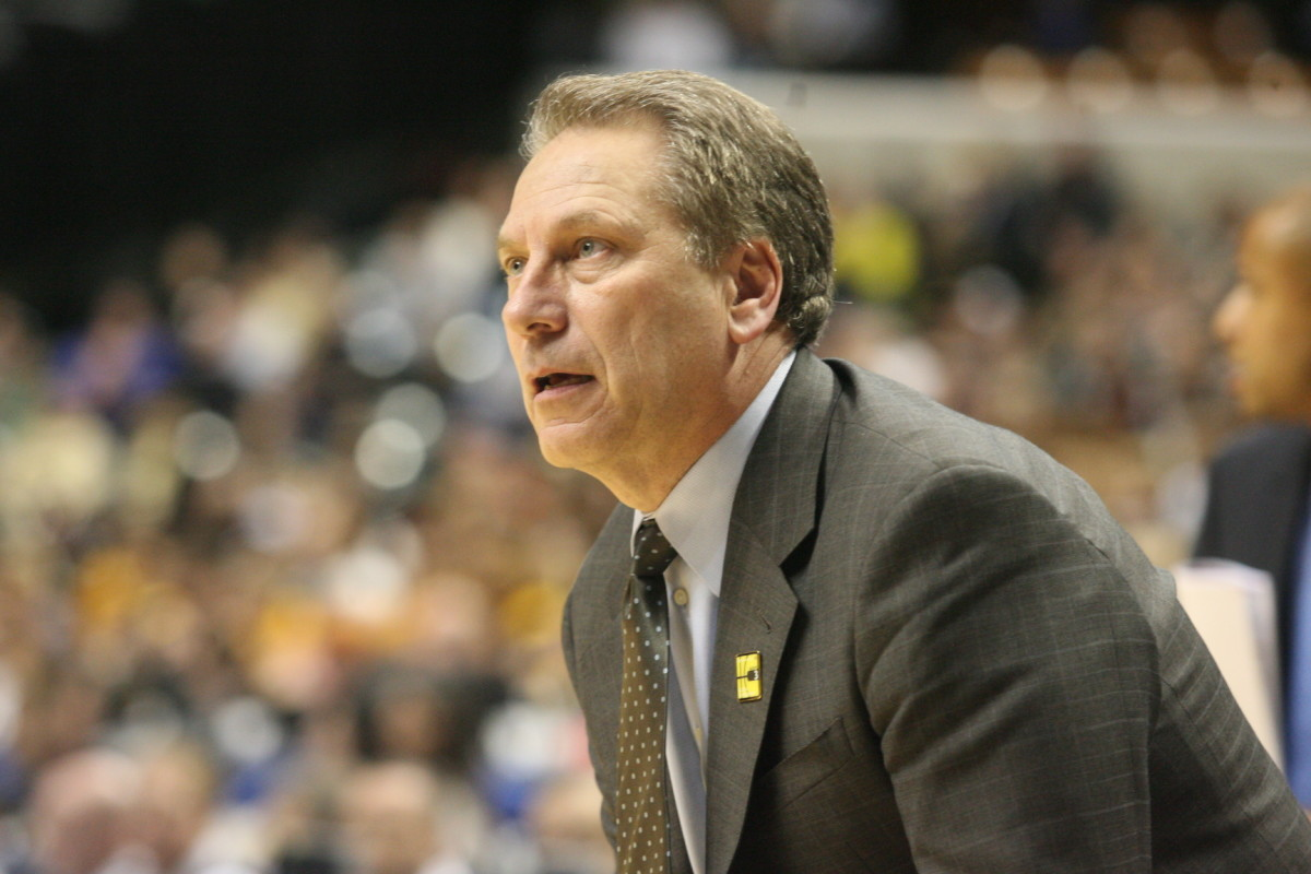 Tom Izzo was the single most important part of why the Spartans won today.  Photo courtesy of Bill Marklevits.
