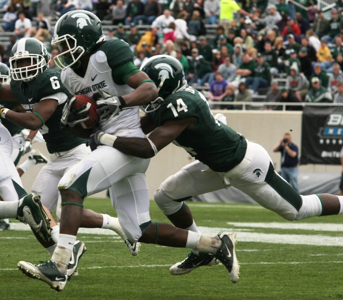 Mark Dantonio is well on his search for his next crop of stars in the 2012 class.  Photo courtesy of Bill Marklevits.