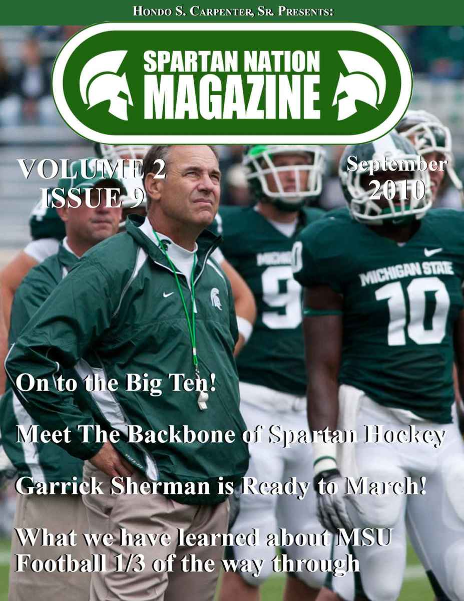 Here is the cover for the September Magazine.  Photo courtesy of Starr Portice.
