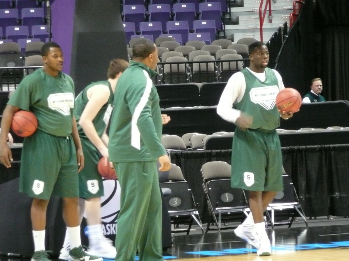 This Spartan team is incredibly lo0se and ready for today's tilt with Maryland.  Photo courtesy of Greg Martin.