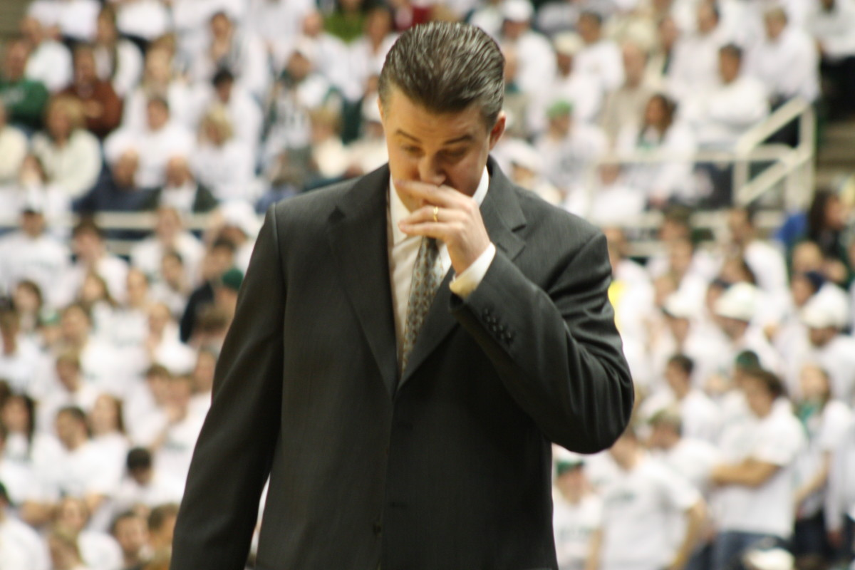 The Spartan Nation voted and they think Matt Painter has the upper hand today.  Photo courtesy of Mark Boomgaard.