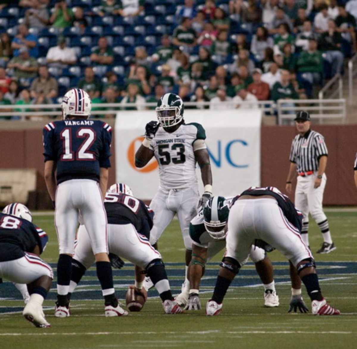 The Spartans have a lot to be excited about as they start the 2010 season 2-0.  Photo courtesy of Starr Portice.