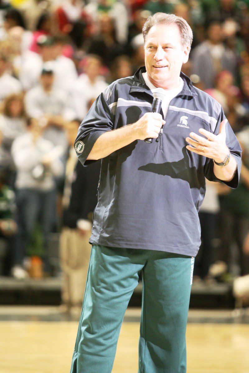Tom Izzo has earned the right to have a tough season, but don't count him out!  Photo courtesy of Bill Marklevits