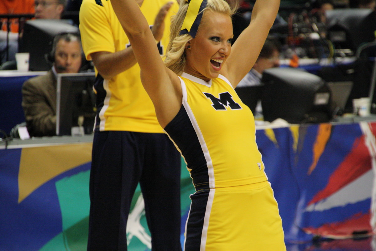 The Wolverines gave their fans a lot to be excited about today at the Big Ten tournament.  Photo courtesy of Mark Boomgaard.