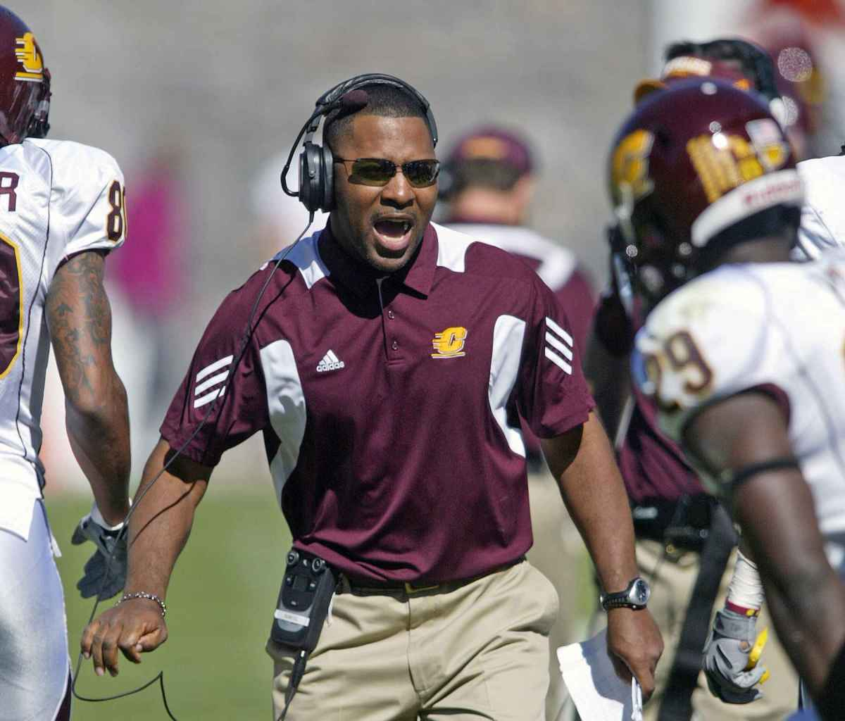 Coach Samuel is a high energy get after it coach.  Hear for yourself tonight.  Photo courtesy of the MSU SID.