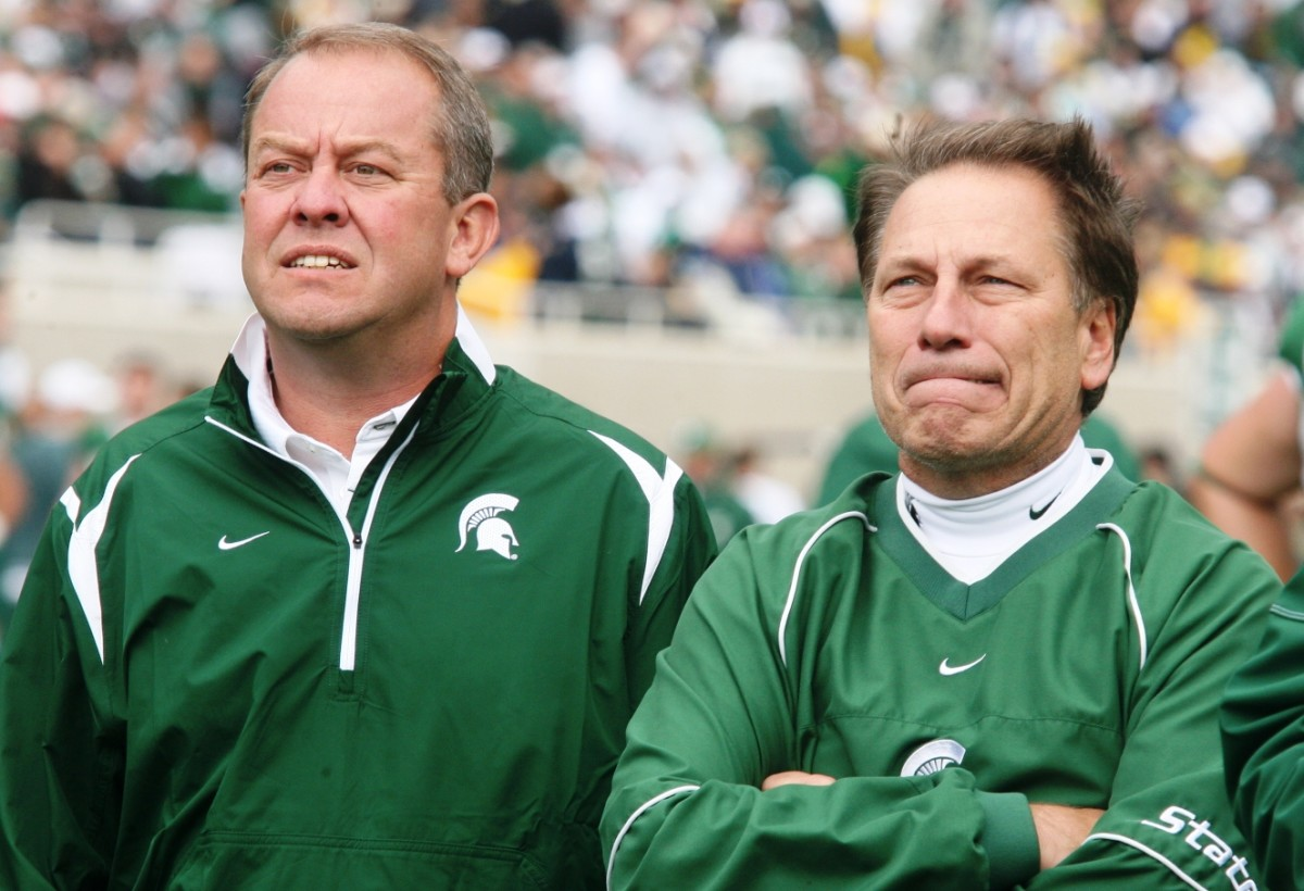 Today was a tough day for Hollis and Izzo as the NCAA decided to punish Izzo in an unprecedented way.  Photo courtesy of Bill Marklevits.