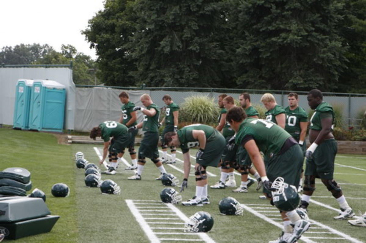 The offensive line is the biggest question mark for the 2011 Spartan Football team.  Photo courtesy of Starr Portice.