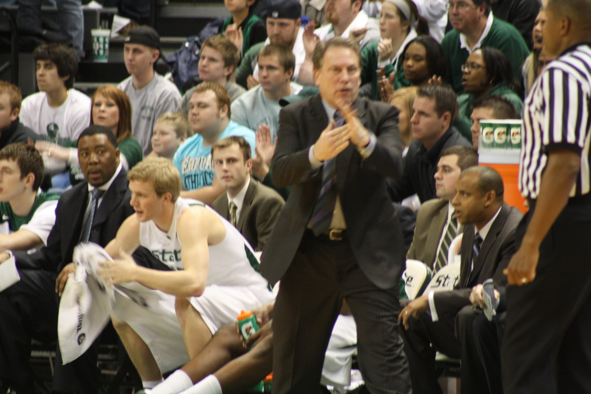 An unhappy Izzo watched his team miss a chance to grow up tonight.  Photo courtesy of Mark Boomgaard.