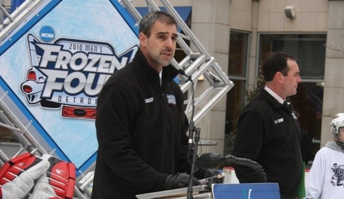 Tom Anastos was named the new MSU hockey coach and he will join us tonight on Spartan Nation Radio for an EXCLUSIVE interview.  Don't miss it.  Photo courtesy of MSU SID.