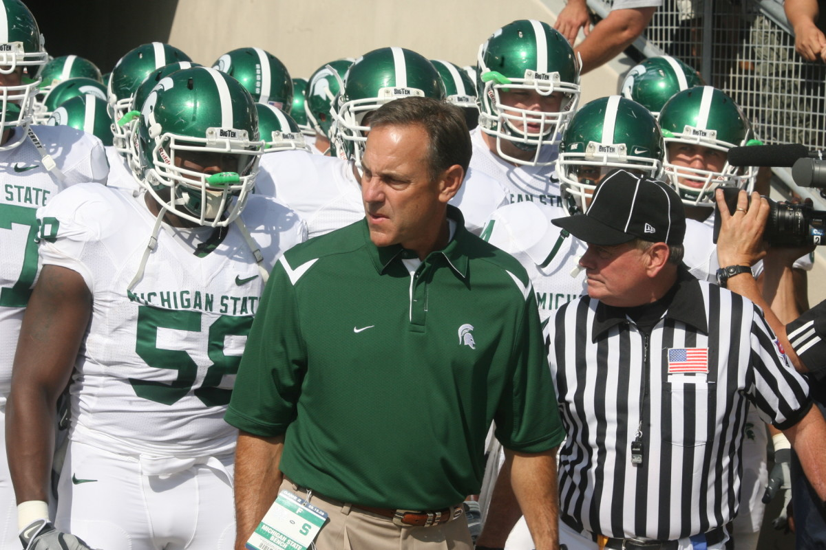 Mark Dantonio's personality and commitment to relationships and people are what has put the Spartan program on a strong foundation.  Photo courtesy of Bill Marklevits.