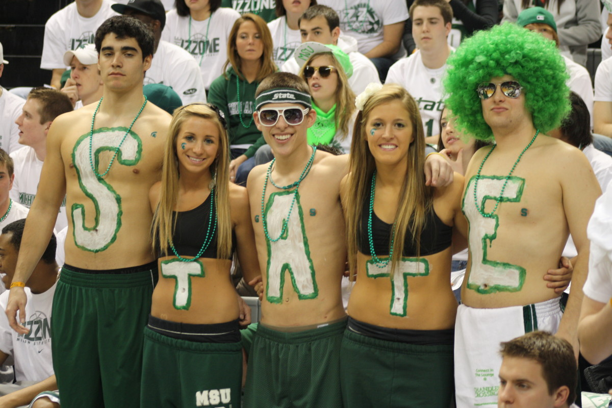 The Spartan fans are ready for another title run.  Photo courtesy of Mark Boomgaard.