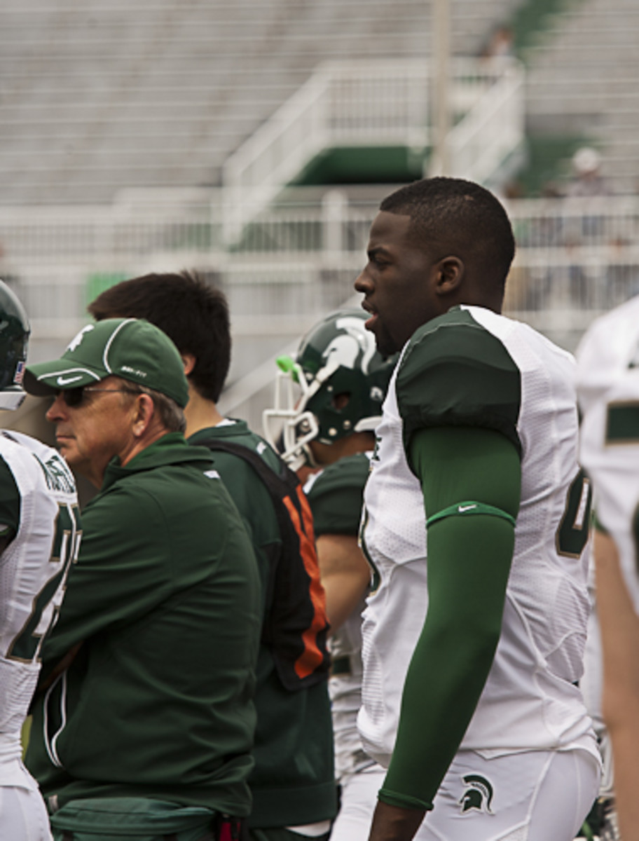 If motivated to prepare Draymond Green (Seen pictured above at the spring game) could be a very good football player.  Photo courtesy of Starr Portice.