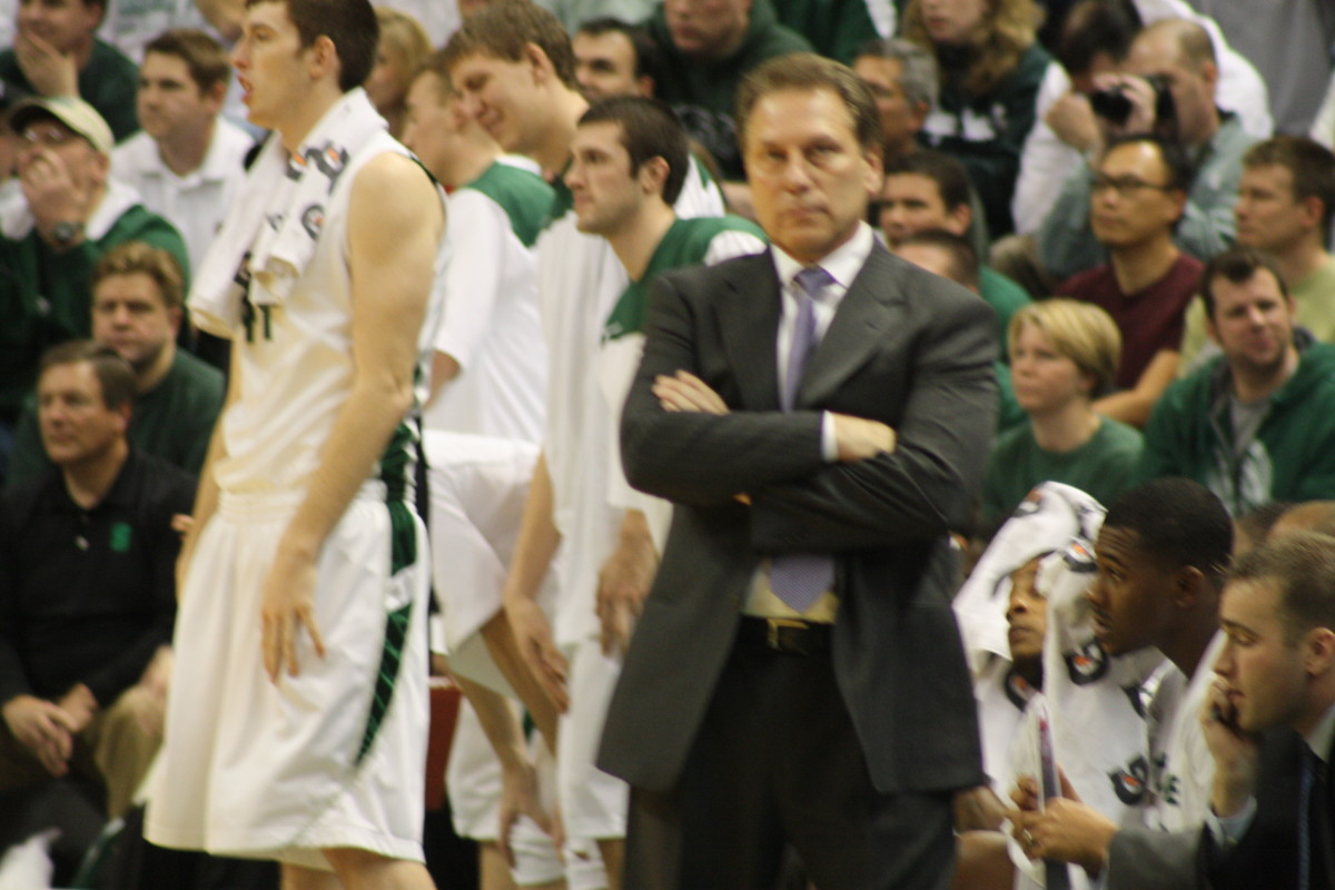 Tom Izzo talked about his Spartans today.  Photo courtesy of Mark Boomgaard.