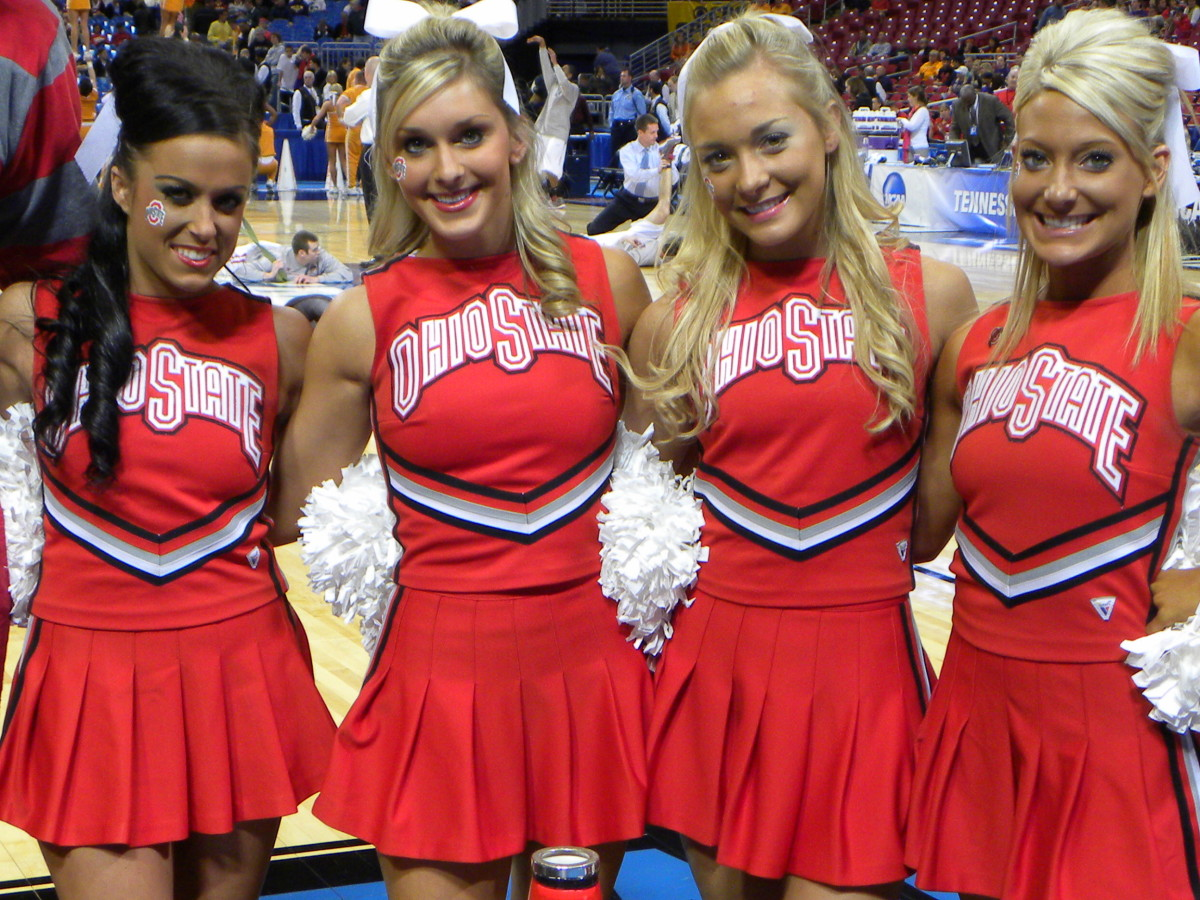 Ohio State may not be left in the dance, but we honor their cheer team.  Phot courtesy of Kevin Krzeminski.