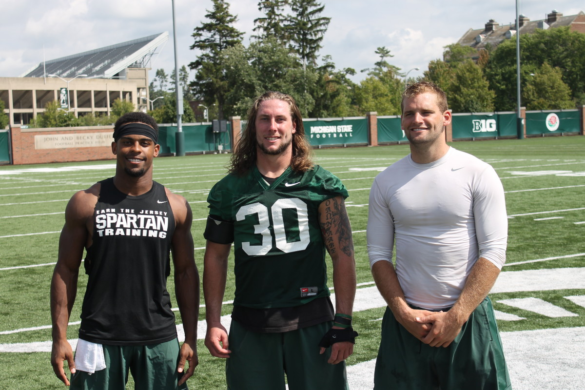 2016 MSU Captains:  Riley Bullough, Demetrious DAY-DAY Cox and Tyler O'Connor.