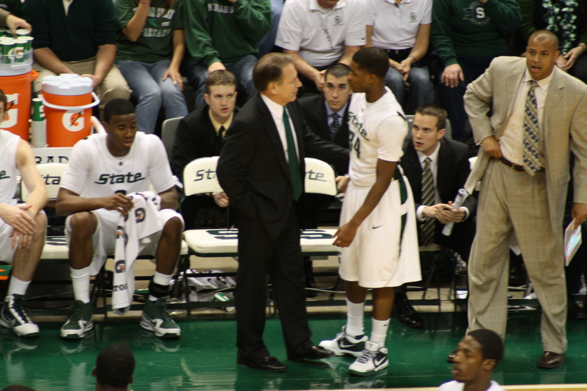 The Spartans find themselves in a one or done game for a Big Ten Title.  Photo courtesy of Mark Boomgaard.