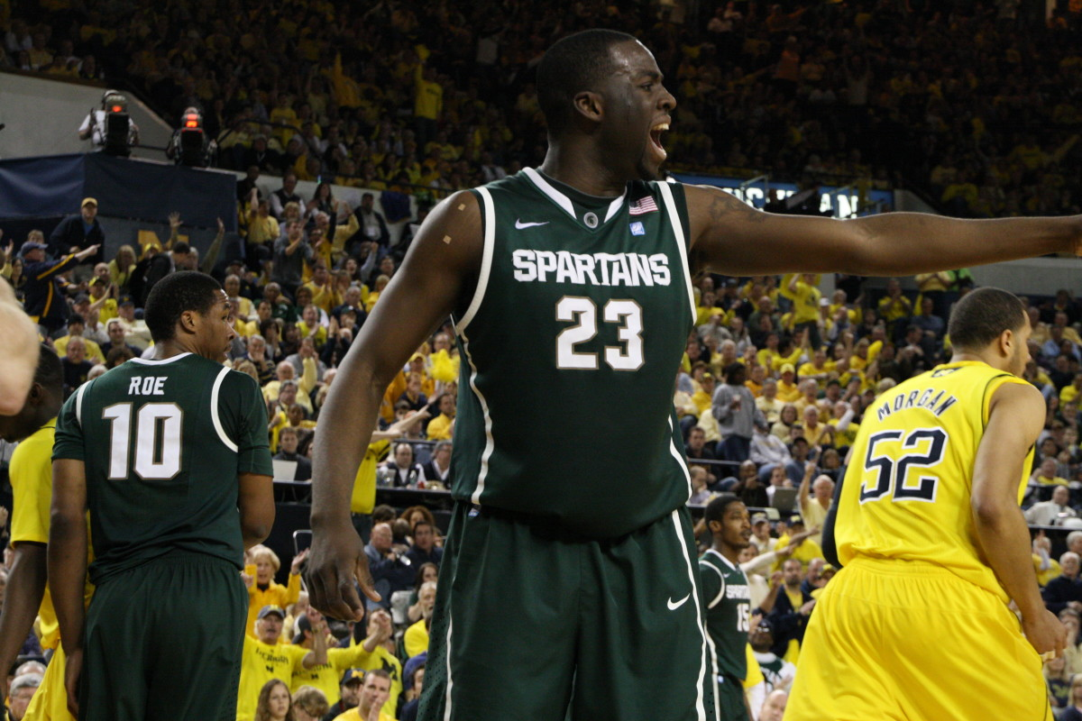 Draymond and the Spartans couldn't get things going tonight in Ann Arbor.  Photo courtesy of Mark Boomgaard.