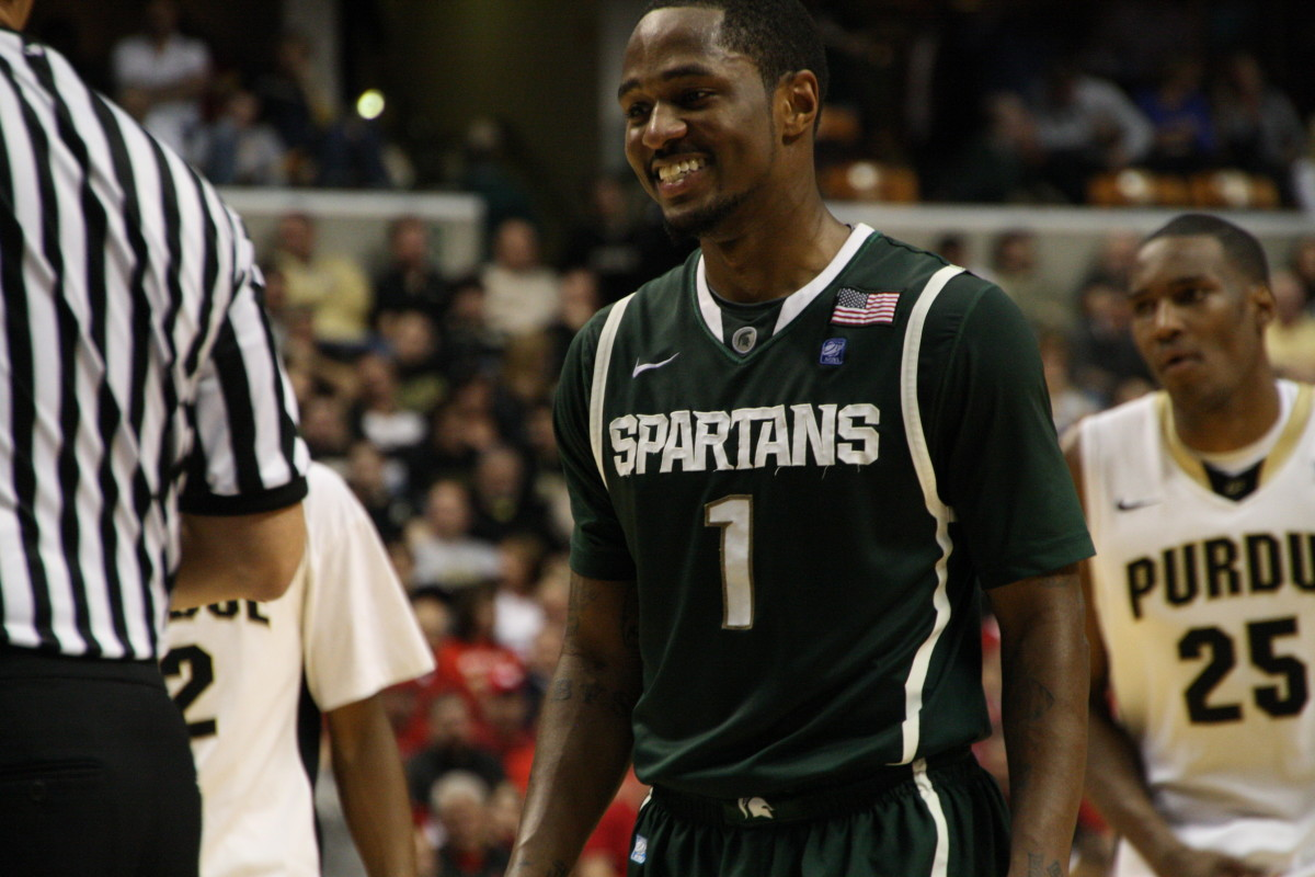 His smile says it all.  The Spartans best player refuses to lose and leads his team in March!  Photo courtesy of Mark Boomgaard.