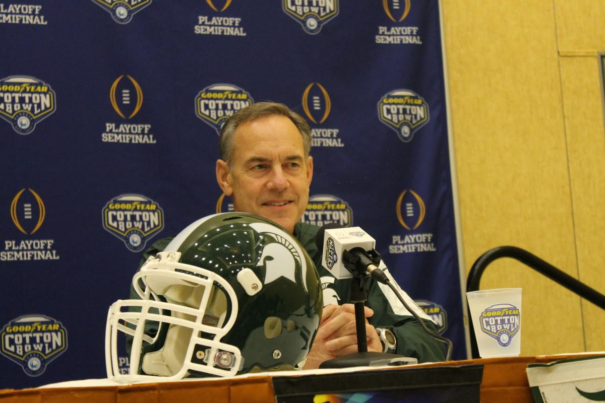 Mark Dantonio pre Cotton Bowl vs Alabama 12/26/2015