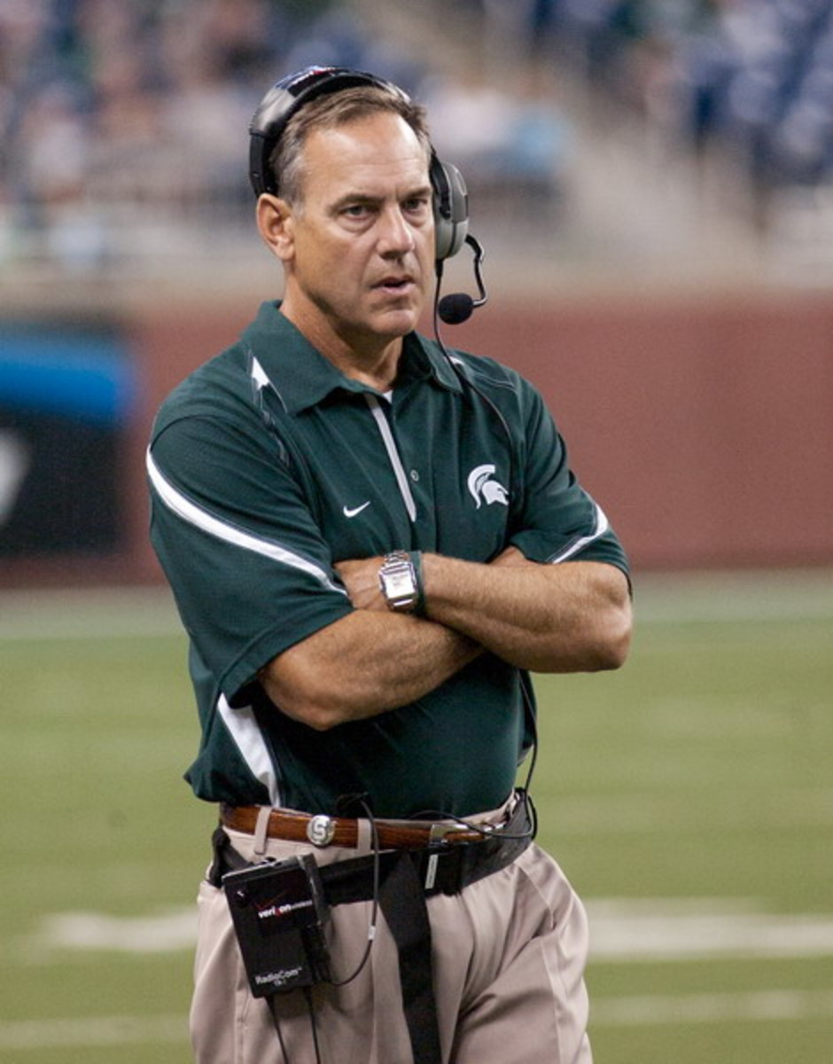 Saturday's matchup with the Irish is the biggest of Mark Dantonio's head coaching career at MSU.  Photo courtesy of Starr Portice.