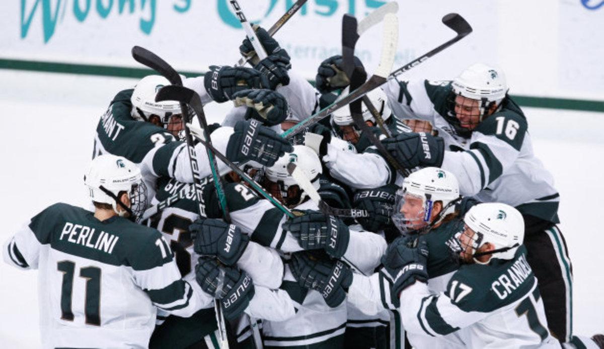 Air Force, Boston College, Michigan State and host North Dakota will open season at Ralph Engelstad Arena.  Photo courtesy of MSU SID.