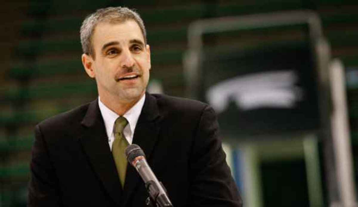 With essentially his first two recruiting classes done by the previous head coach, Anastos starts out behind the proverbial eight ball.  Photo courtesy of MSU SID.