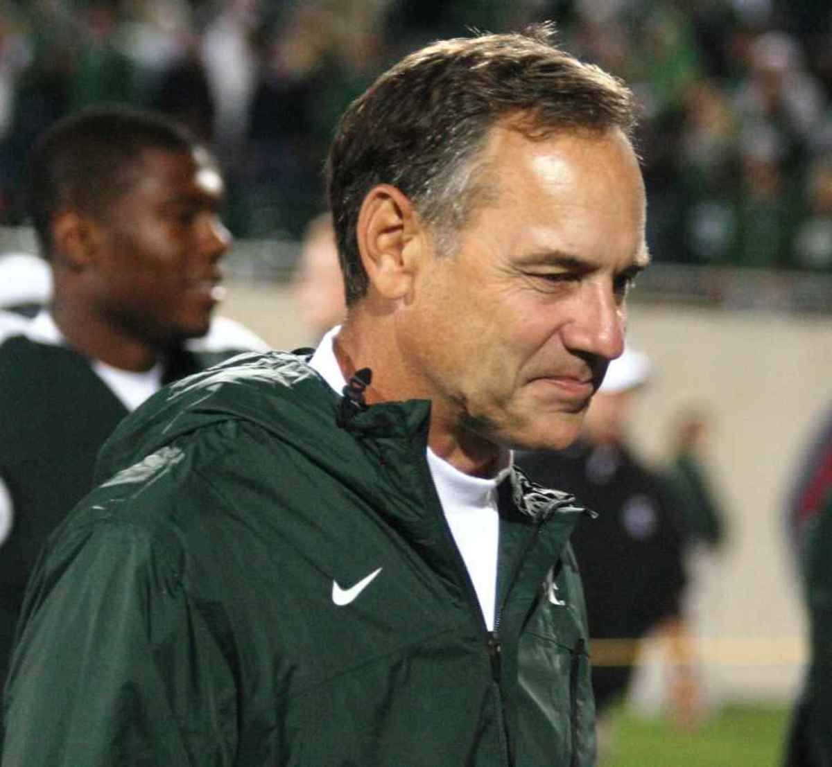 Mark Dantonio got more than a win over Notre Dame, he picked up a top flight DB.  Photo courtesy of Bill Marklevits.