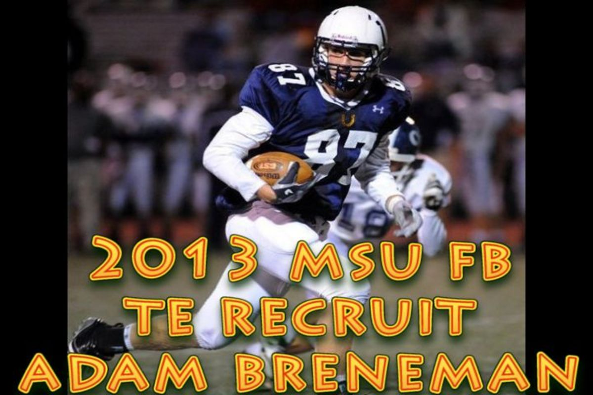 Adam Breneman is an elite player for the 2013 class from Pennsylvania and he has the Spartans high on his list.
