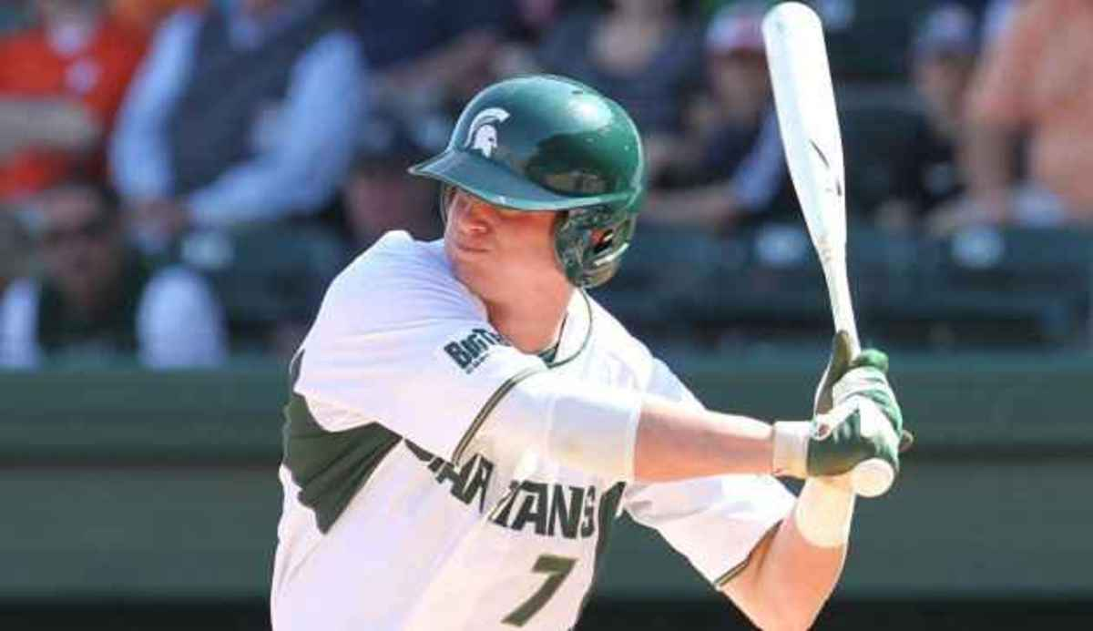 Torsten Boss and Jeff Holm each collect three hits, while Kurt Wunderlich earns the win on the mound.  Photo courtesy of MSU SID.