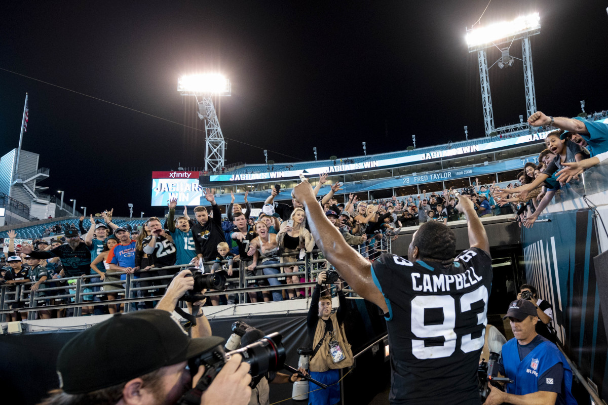 """Campbell said of Jacksonville, """"I had a great time there.""""Mandatory Credit: Douglas DeFelice-USA TODAY Sports"""