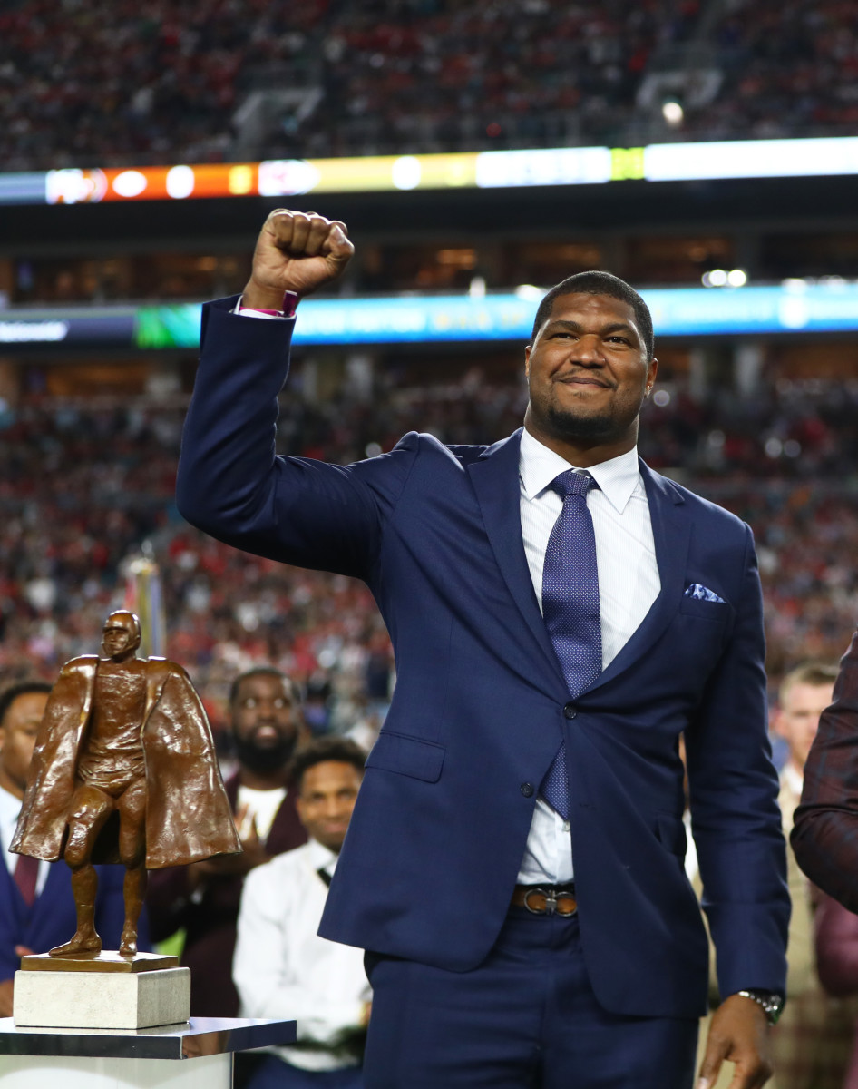 Campbell was named Walter Payton Man of the Year for 2019 while with the Jaguars.Mandatory Credit: Mark J. Rebilas-USA TODAY Sports