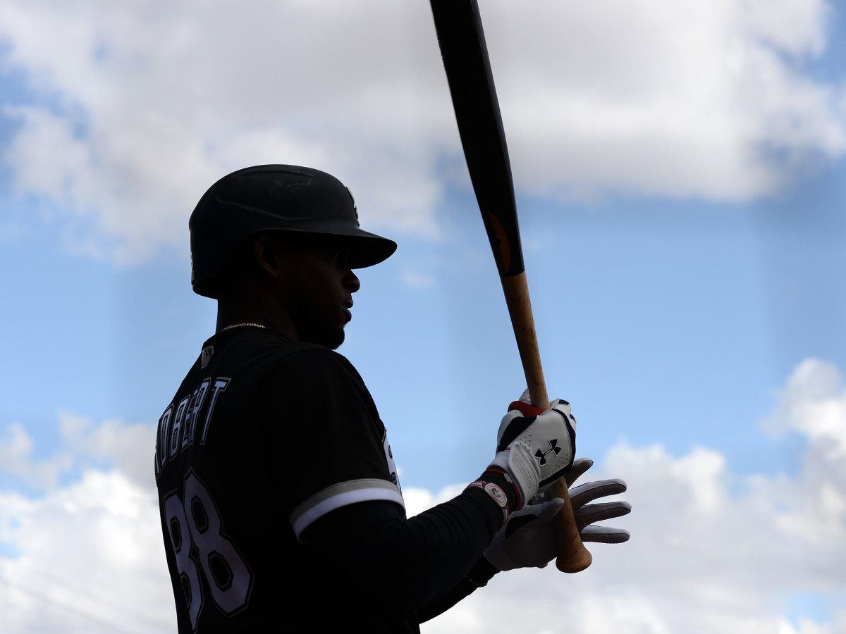 Luis Robert holding a bat