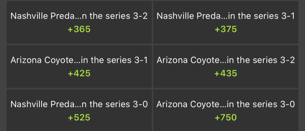 Odds via DraftKings Sportsbook