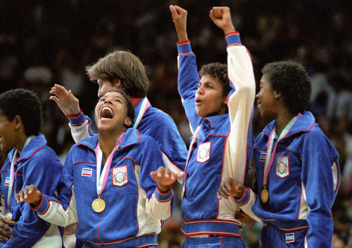 The L.A. Games went off without a hitch, and the U.S. dominated. Among the 83 American gold-medal winners: both basketball teams, including Cheryl Miller (arms up) and the women.
