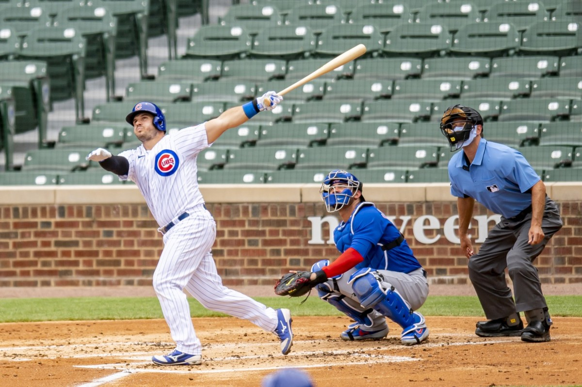 Josh Phegley is in his first year with the Cubs, as a backup catcher. (USA TODAY Sports)