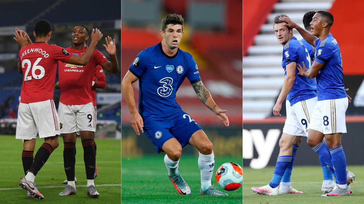Manchester United, Chelsea and Leicester City are all vying for places in the Champions League