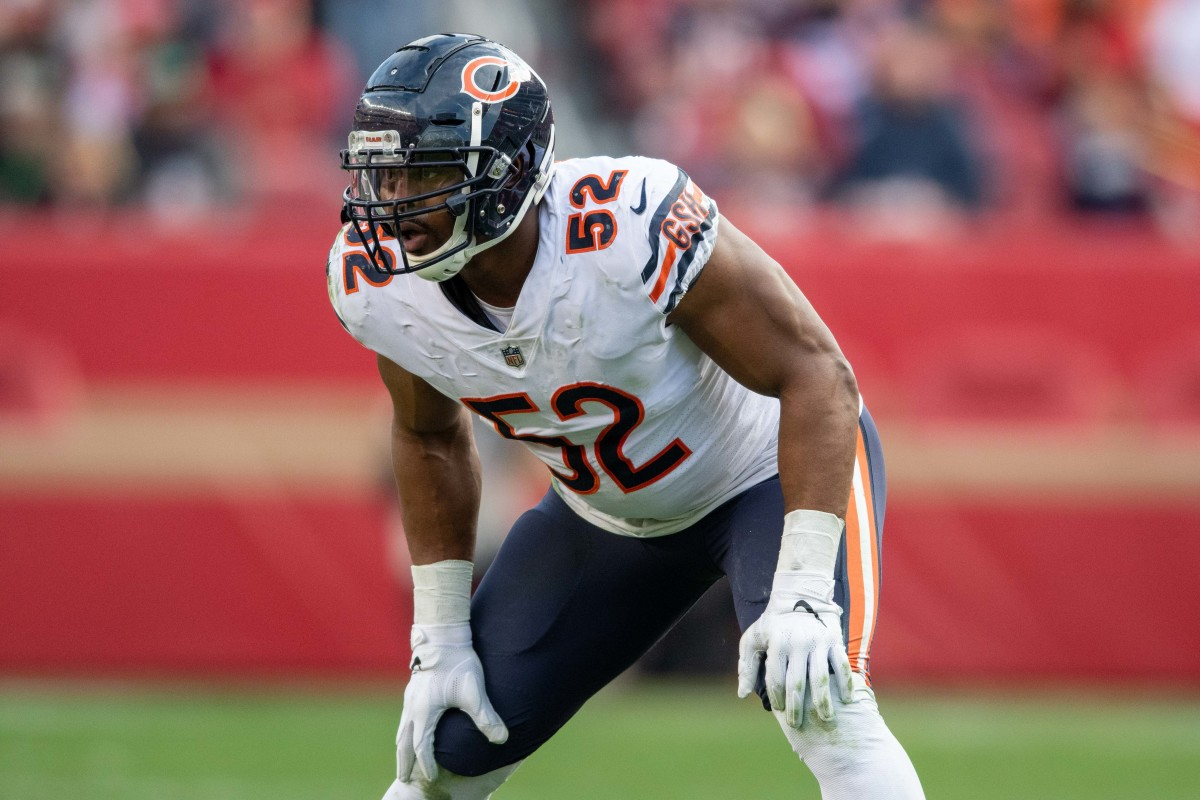 Where does Khalil Mack rank on a list of the greatest Bears linebackers of all time?