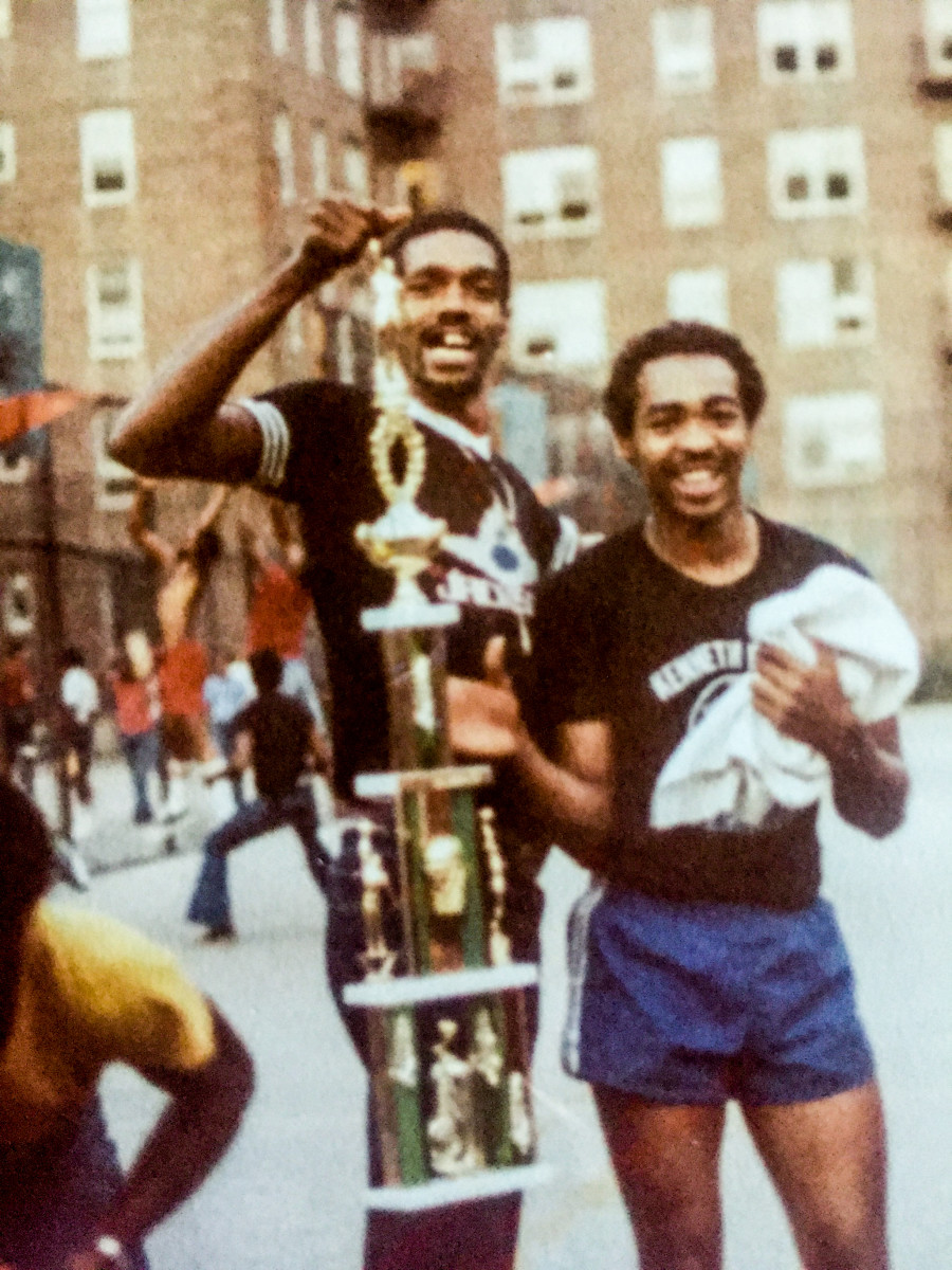 """Powell (right) and Williams, with the missing-teeth smile that defined his """"Flatbush Fly"""" days, stayed friends even when their paths diverged."""
