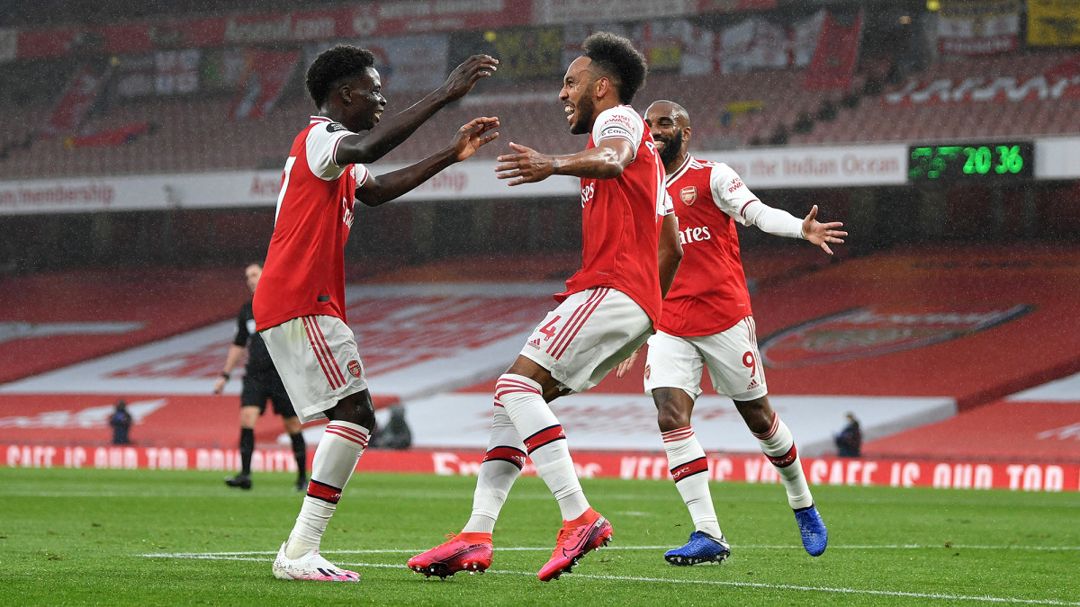 Arsenal stars Bukayo Saka and Pierre-Emerick Aubameyang